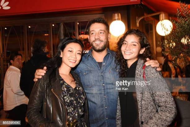 Malika Lambert Titoff and Emilie Payet attend the 'Apero Gouter' Cocktail Hosted by Le Grand Seigneur Magazine at Bistrot Marguerite on September 28...