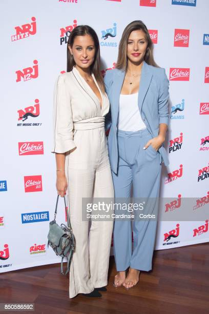 Malika Menard and Camille Cerf attend the NRJ's Press Conference to Announce Their Schedule for 2017/2018 on September 21 2017 in Paris France