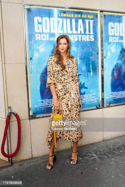 Malika Menard attends the Godzilla II Roi des Monstres Premiere at Le Grand Rex on May 26 2019 in Paris France