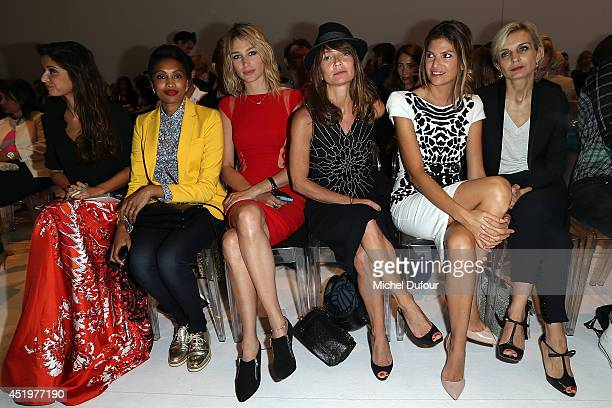 Malika Menard, Imany, Pauline Lefevre, Axelle Lafont, Isabelle Funaro and Melita Toscan du Plantier attend the Zuhair Murad show as part of Paris...