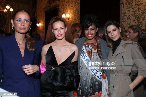Malika Menard Maeva Coucke Miss France 2020 Clemence Botino and Laury Thilleman attend the JeanPaul Gaultier Haute Couture Spring/Summer 2020 show as...