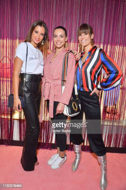 Malika Menard Marine Lorphelin and Laury Thillman attend the Lancel presentation as part of the Paris Fashion Week Womenswear Fall/Winter 2019/2020...