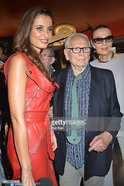 Malika Menard Pierre Cardin and Maryse Gaspard attend The Jean Paul Gaultier show as part of the Paris Fashion Week Womenswear Spring/Summer 2015 at...