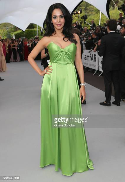 Malika Sherawat arrives at the amfAR Gala Cannes 2017 at Hotel du CapEdenRoc on May 25 2017 in Cap d'Antibes France
