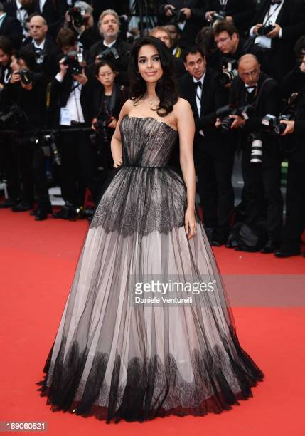 Malika Sherawat attends the Premiere of 'Inside Llewyn Davis' during the 66th Annual Cannes Film Festival at Palais des Festivals on May 19 2013 in...