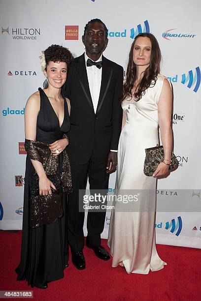 Malika ZouhaliWorrall John Long Jones Abdallah Wambere and Katherine Fairfax Wright arrive for the the 25th Annual GLAAD Media Awards Dinner and Show...