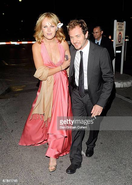 Malin Ackerman and Roberto Zincone are seen on May 18 2009 in Cannes France
