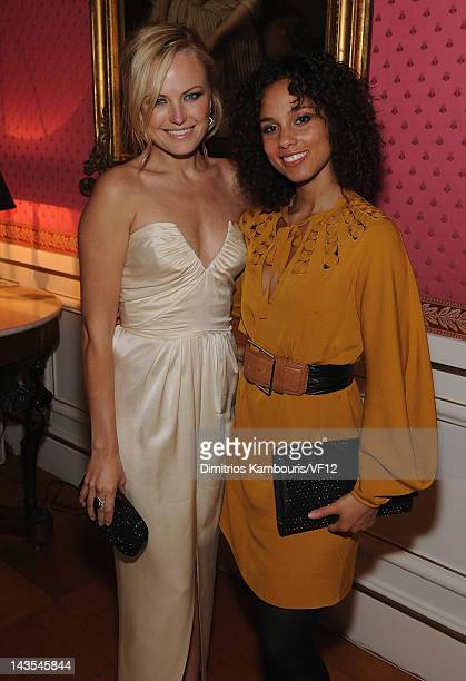 Malin Akerman and Alicia Keys attend the Bloomberg Vanity Fair cocktail reception following the 2012 White House Correspondents' Association Dinner...