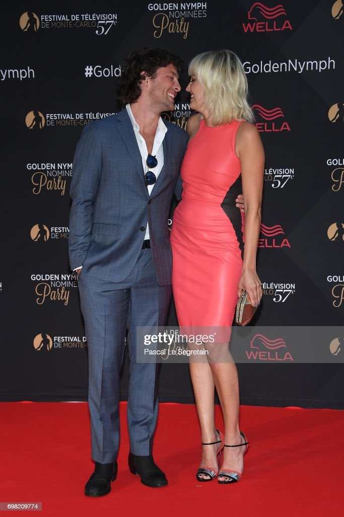 Malin Akerman and boyfriend attend the Golden Nymph Nominees party at the Monte Carlo Bay hotel on day 4 of the 57th Monte Carlo TV Festival on June 19, 2017 in Monte-Carlo, Monaco.