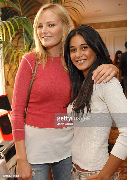 Malin Akerman and Emmanuelle Chriqui during HBO Luxury Lounge Day 1 at Four Seasons Hotel in Beverly Hills California United States