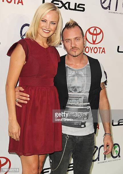Malin Akerman and husband Roberto Zincone arrives at the 2012 Environmental Media Awards at Warner Bros. Studios on September 29, 2012 in Burbank,...