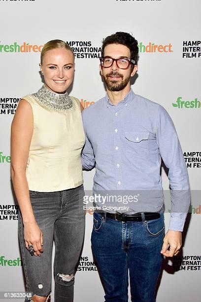 Malin Akerman and Ido Fluk attend The Ticket screening during the Hamptons International Film Festival 2016 at UA East Hampton Cinema 6 on October 9...