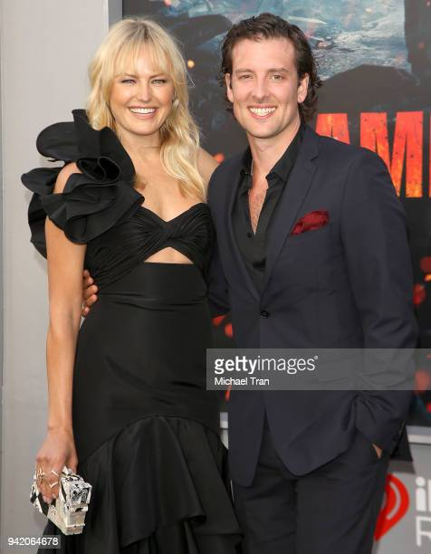 Malin Akerman and Jack Donnelly arrive to the Los Angeles premiere of Warner Bros Pictures' Rampage held at Microsoft Theater on April 4 2018 in Los...