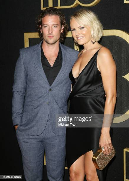 Malin Akerman and Jack Donnelly attend HBO's Post Emmy Awards reception held at The Plaza at the Pacific Design Center on September 17 2018 in Los...
