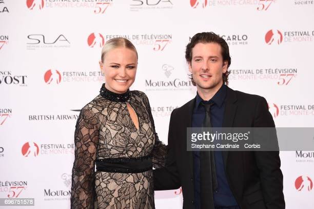 Malin Akerman and Jack Donnelly attend the 57th Monte Carlo TV Festival Opening Ceremony on June 16 2017 in MonteCarlo Monaco