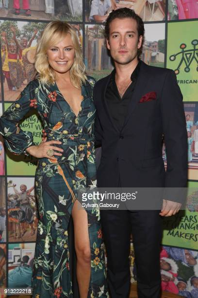 Malin Akerman and Jack Donnelly attend The African Children's Choir ChangeMakers Gala at City Winery on February 1 2018 in New York City