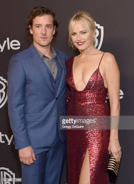 Malin Akerman and Jack Donnelly attend the InStyle And Warner Bros Golden Globes After Party 2019 at The Beverly Hilton Hotel on January 6 2019 in...