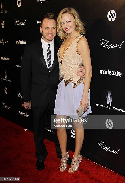 Malin Akerman and Roberto Zincone arrive at the Weinstein Company's 2012 Golden Globe afterparty held at Bar 210 at The Beverly Hilton hotel on...