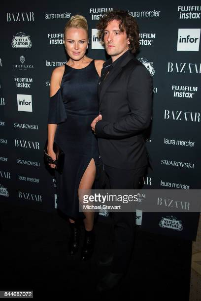 Malin Akerman and Roberto Zincone attend 2017 Harper's Bazaar Icons at The Plaza Hotel on September 8 2017 in New York City