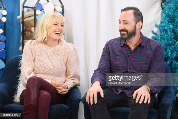 Malin Akerman and Tony Hale attend The Vulture Spot during Sundance Film Festival on January 25 2019 in Park City Utah