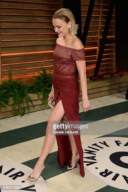 Malin Akerman arrives at the 2014 Vanity Fair Oscar Party Hosted By Graydon Carter on March 2 2014 in West Hollywood California