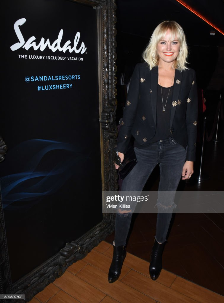 Malin Akerman attends a private event at Hyde Staples Center hosted by Sandals Resorts for the Ed Sheeran concert at Hyde Lounge at The Staples Center on August 10, 2017 in Los Angeles, California.