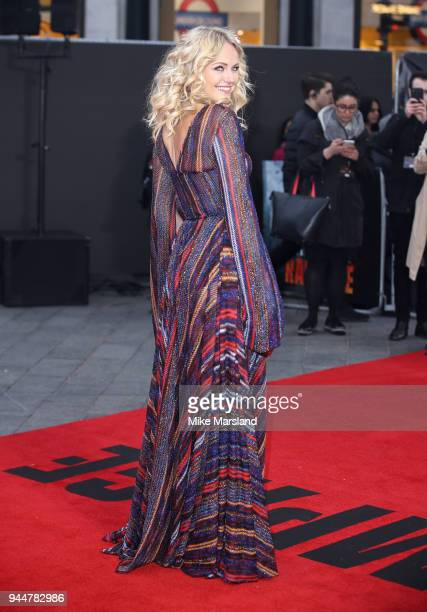 Malin Akerman attends the European Premiere of 'Rampage' at Cineworld Leicester Square on April 11 2018 in London England