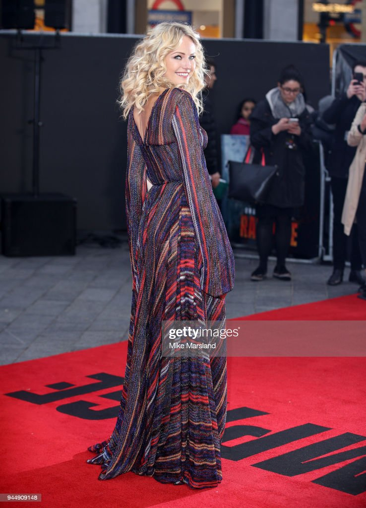 Malin Akerman attends the European Premiere of 'Rampage' at Cineworld Leicester Square on April 11, 2018 in London, England.