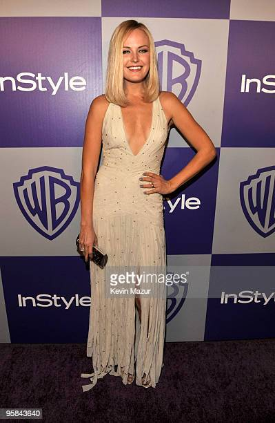 Malin Akerman attends the InStyle and Warner Bros 67th Annual Golden Globes postparty held at the Oasis Courtyard at The Beverly Hilton Hotel on...