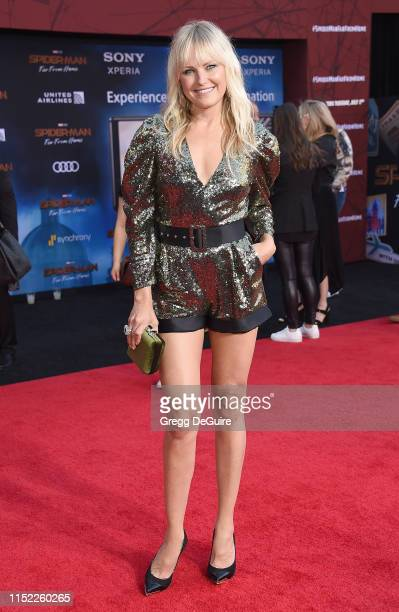 Malin Akerman attends the premiere of Sony Pictures' SpiderMan Far From Home at TCL Chinese Theatre on June 26 2019 in Hollywood California