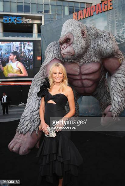 Malin Akerman attends the premiere of Warner Bros Pictures' 'Rampage' at Microsoft Theater on April 4 2018 in Los Angeles California