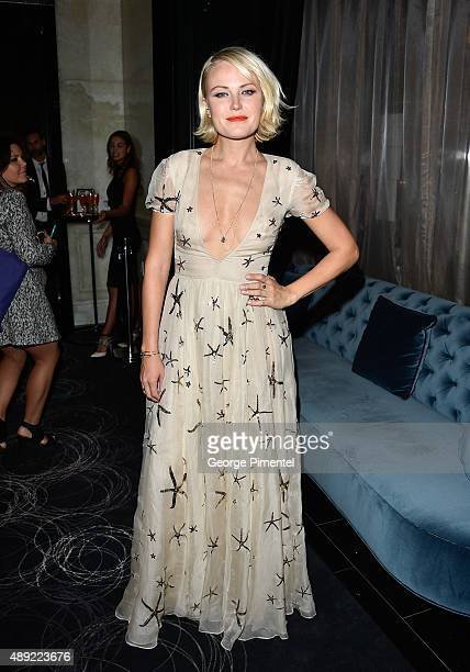 Malin Akerman attends the 'The Final Girls' TIFF party at America Trump Tower Toronto Hosted By Ciroc on September 19 2015 in Toronto Canada