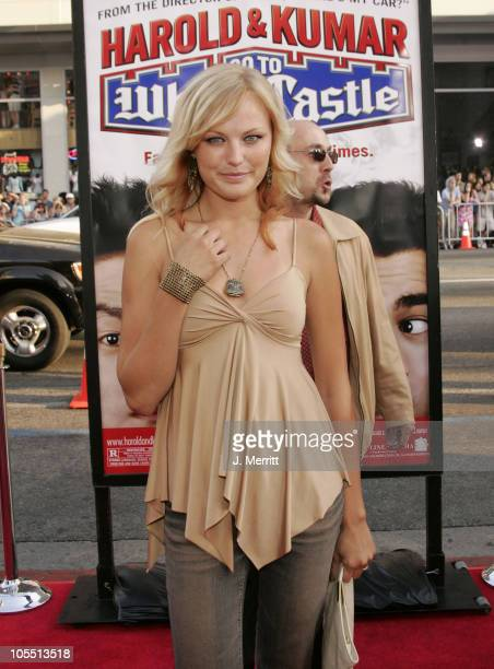 """Malin Akerman during """"Harold & Kumar Go To White Castle"""" Los Angeles Premiere - Arrivals at The Mann Chinese Theatre in Hollywood, California, United..."""