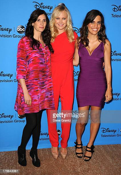 Malin Akerman Michaela Watkins and Natalie Morales arrives at the 2013 Television Critics Association's Summer Press Tour Disney/ABC Party at The...