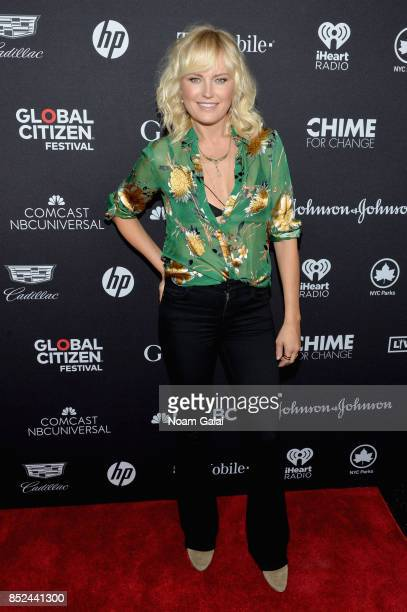 Malin Akerman poses in the VIP Lounge during the 2017 Global Citizen Festival in Central Park on September 23 2017 in New York City