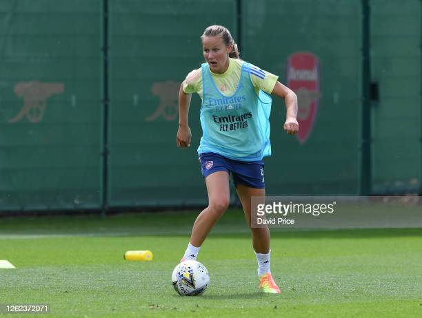 Malin Gut of Arsenal during the Arsenal Women training session at Arsenal Academy on July 29 2020 in Walthamstow England