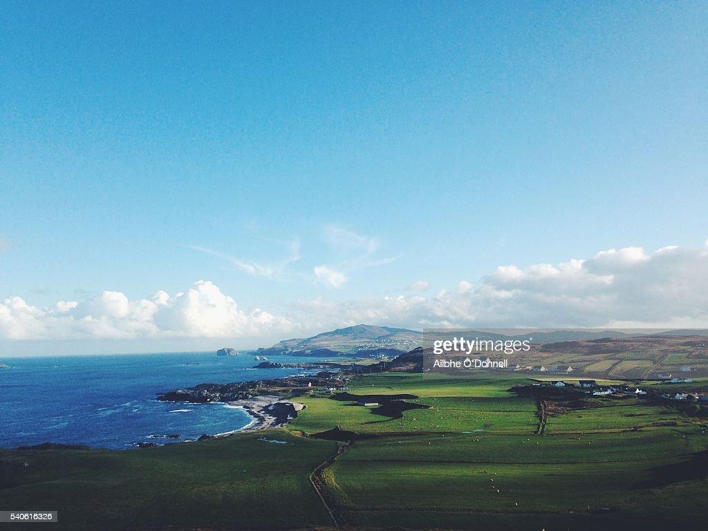 Malin Head, Co Donegal, Ireland, view of Esky Bay : Stock Photo