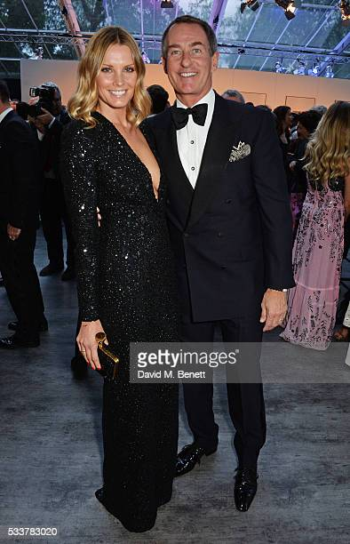 Malin Jefferies and Tim Jefferies attend British Vogue's Centenary gala dinner at Kensington Gardens on May 23 2016 in London England