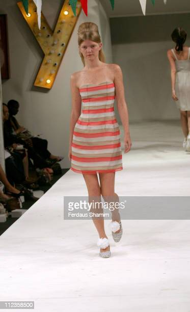 Malin Martensson wearing Peter Jensen Spring/Summer 2006