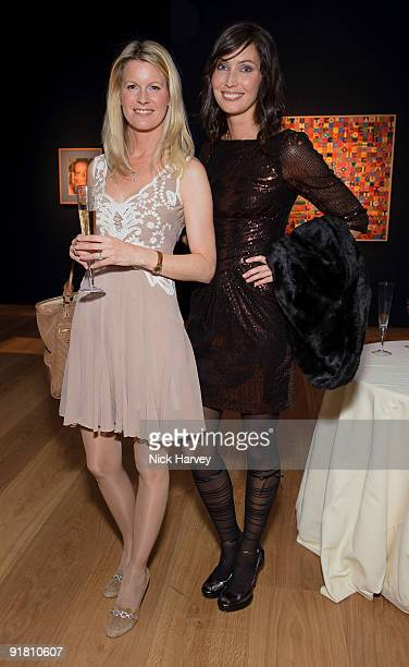Malin Wright and Klara ObergGraff attend reception hosted by Graff held in aid of FACET at Christie's King Street on October 12 2009 in London England