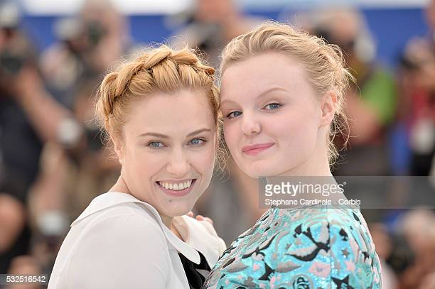 Malina Manovici and Maria Dragus attend the 'Graduation ' Photocall during the 69th annual Cannes Film Festival at the Palais des Festivals on May 19...