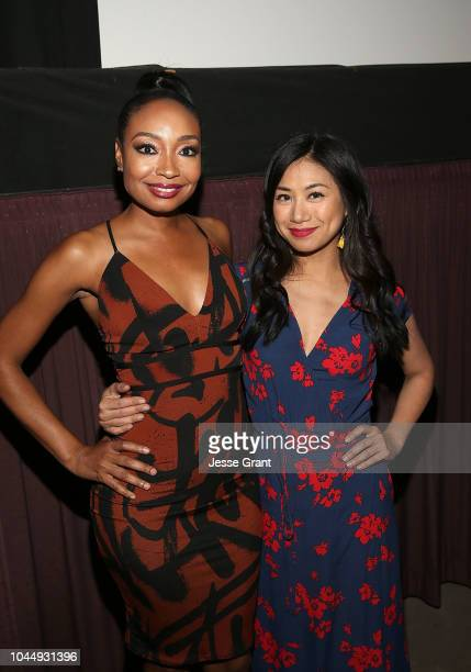 Malina Moye and Liza Lapira attend The Samuel Project Special Screening Hosted By SAGAFTRA at Laemmle Music Hall on October 2 2018 in Beverly Hills...
