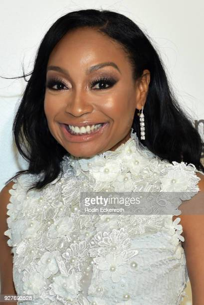Malina Moye attends the 26th annual Elton John AIDS Foundation's Academy Awards Viewing Party at The City of West Hollywood Park on March 4 2018 in...