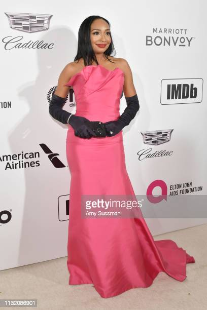 Malina Moye attends the 27th Annual Elton John AIDS Foundation Academy Awards Viewing Party on February 24 2019 in West Hollywood California