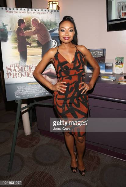 Malina Moye attends The Samuel Project Special Screening Hosted By SAGAFTRA at Laemmle Music Hall on October 2 2018 in Beverly Hills California