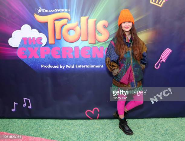 Malina Weissman attends DreamWorks Trolls The Experience Rainbow Carpet Grand Opening on November 14 2018 in New York City