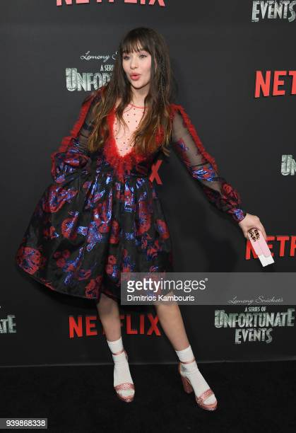 Malina Weissman attends the Netflix Premiere of A Series of Unfortunate Events Season 2 on March 29 2018 in New York City