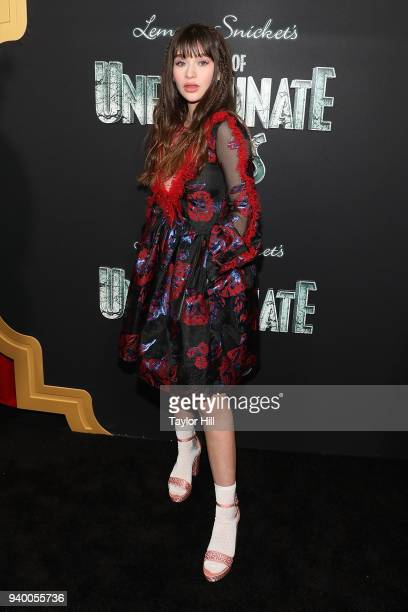 Malina Weissman attends the the Season 2 premiere of Netflix's 'A Series Of Unfortunate Events' at Metrograph on March 29 2018 in New York City