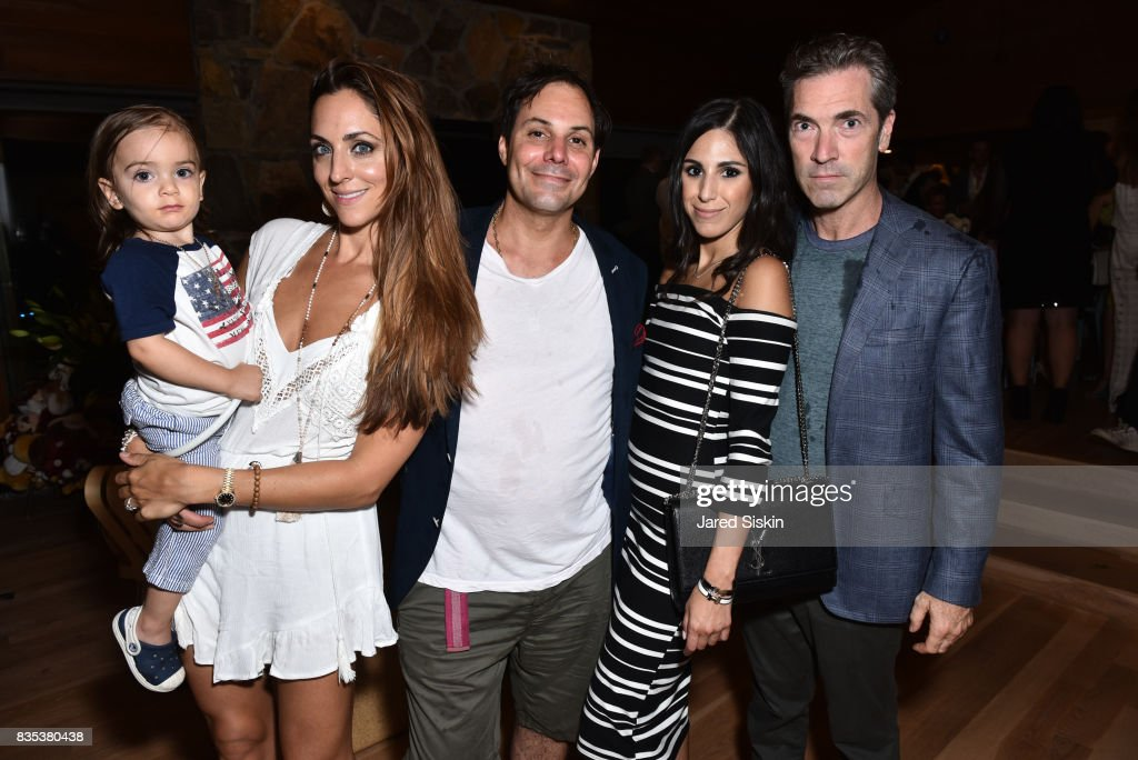 Malinda Kalt, DJ Lee Kalt, Ally Badillo and Justin Mitchell attend ARTrageous Gala + Art Auction benefitting Hour Children at a Private Residence on August 18, 2017 in Southampton, New York.