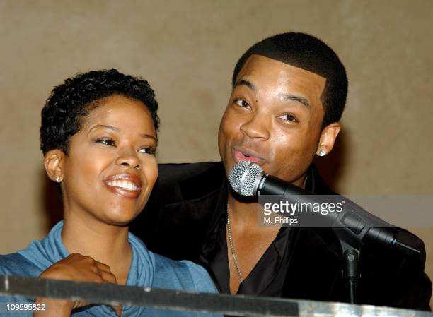 Malinda Williams and Chico Benymon during 16th Annual NAACP Theatre Awards Nominations - Press Conference in Los Angeles, California, United States.